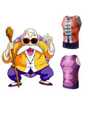 Carnevale T shirt di poliestere Kame-Sen'Nin Dragon Ball Carnevale
