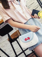 Sweet Lolita Handbags Metal Chains Bowknot Color Block Light Blue Lolita One Shoulder Bags