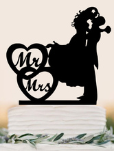 Wedding Cake Toppers Black Mr And Mrs Acrylic Wedding Decorations