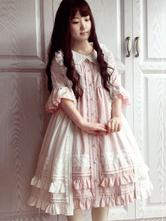 Cover-up de Lolita sin mangas de encaje estilo dulce de algodón