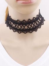 Classic Lolita Choker Lace Black Lolita Necklace