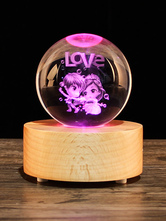 2018 Valentines Gift Personalized Romantic Lovers Effect Changeable Valentine Bluetooth Crystal Musical Light