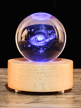 Valentines Gift 2018 Personalized Romantic Galaxy Crystal Light Bluetooth Musical Lamp
