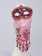 Faschingskostüm Latex Scary Maske mit Thema von Film Maske Kunststoff für Damen mit Maske Karneval Kostüm