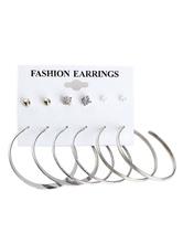 Mode Ohrring Ohrring mit Kunstdiamanten für Abend im schicken & modischen Style Piercing Ohrringe Metall und Damen