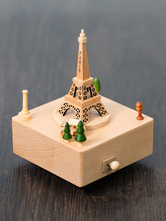 Wooden Music Box Eiffel Tower Personalized 2018 Valentines Gift For Friend