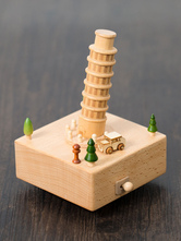 Valentines Gift 2018 Personalized Leaning Tower Of Pisa Wooden Music Box