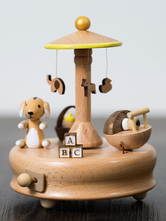 Valentines Gift 2018 Personalized Cute Merry Go Round Wooden Music Box For Kids