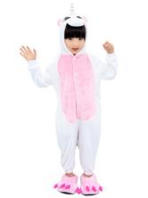 Disfraz Carnaval Kigurumi Niños para Navidad rosa de franela Unicornio Carnaval Halloween