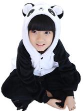 Kigurumi Carnaval pyjama pour enfant de Panda hiver automne en flanelle en flanelle  Déguisements Halloween