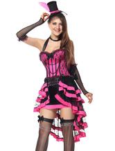 Traje Engraçado de lycra spandex para adultos de poliéster feminina cor de rosa
