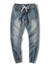 Мужские джинсовые джинсы Светло-голубые длинные гаремные джинсы