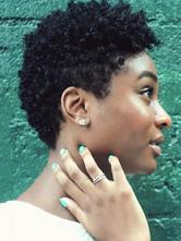 Черный афро парик Tousled глубокие волна завитки Короткие человеческие волосы парик