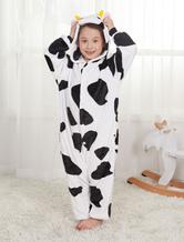 Kigurumi Carnaval Pyjamas pour enfants 2021 vache unisexe hiver noir Onesie Déguisements Halloween