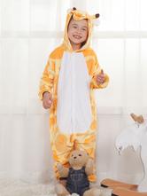 Disfraz Carnaval Jirafa Onesie Kigurumi Kids Unisex Amarillo Easy Toilet Jumpsuit Halloween Carnaval Halloween