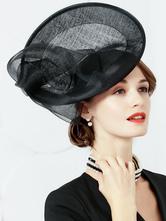 Cosplay Chapeau Accessoire noir en lin chapeau de fête
