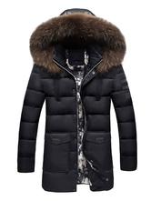 Jaqueta & casaco de neve de algodão Grossa Ajuste Slim de pele artificial Com Capuz Inverno de poliéster
