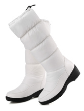 White Xmas Snow Boots Women Boots Round Toe Slip On Winter Boots