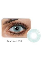 Jährlicher farbiger Kontakt Marine-Blau-kleiner Balafilcon-Kontakt-Farbobjektiv