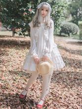 Rococo Lolita JSK Jumper Skirt Ruffles Frills White Lolita Dress