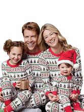 Новогодняя пижама для малышей Семейный Детский красный комбинезон Зимний комбинезон