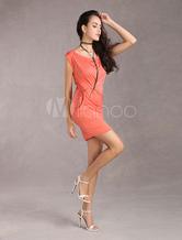 Women's Bodycon Dress Pink Elastic Sexy Dress With Belt