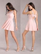 Vestito da donna elastica pizzo rosa estate