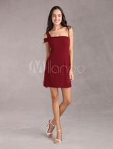 Bodycon mini robe gaine élastique d'une épaule robe de partie
