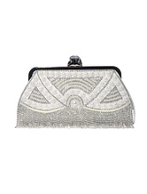 Vintage Wedding Hangbags White Pearl Fringe Beading Party Clutch Bags Purse