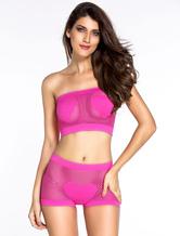 Pink Mesh Nylon Pole Dancing Dress for Women