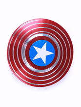 Captain American Shield Alloy Fidget Spinner Marvel Comics Superheld Fidget Spinner  in Rot Metall
