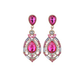 Women's Dangle Earrings Gemstone Jeweled Rhinestones Beaded Oval Shape Vintage Dangle Earrings