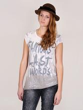 Prints Sequin T-shirt Women's Short Sleeves Elastic Chic Top