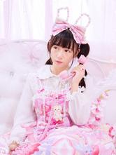 Sweet Lolita JSK Jumper Skirt Chiffon Straps Strawberry Printed Ruffles Pleated Pink Lolita Dress