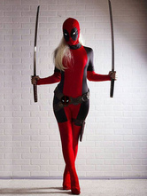 Halloween Lady Deadpool Halloween Cosplay Kostüm