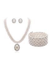 Набор ювелирных изделий жемчуга Vintage подвеска ожерелье серьги стад браслет ретро Great Gatsby ювелирные изделия