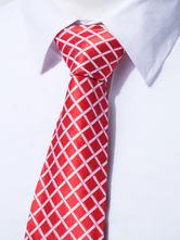 Cravate en polyester écossaise