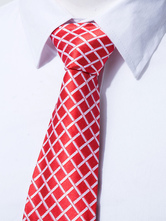 Corbata de poliéster con dibujo de cuadros formal