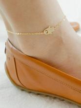 Gold Knöchel Armbänder Frauen Kette Fußkette