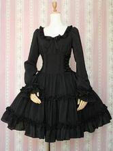 Gothic Black Lolita One Piece Dress Op Classic Lolita