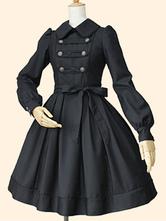 Classic Lolita One Piece Dress OP Turndown Collar Long Sleeve Military Style Lolita Dress