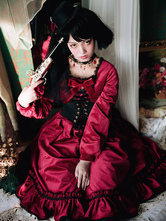 Classic Red Lolita One Piece Dress Op Classic Lolita Long Sleeve Dress