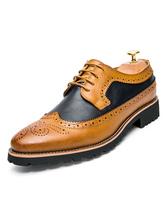 Zapatos Brogue Marrón Zapatos de vestir con cordones y punta redonda Zapatos de novio