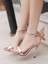High Heel Sandals Open Toe Butterfly Ankle Strap Party Shoes