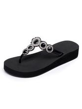 Черные флип-флопы Женские сандалии с открытым носком Стразы Backless Sandal Тапочки