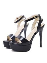 High Heel Sandals Black Platform Open Toe Ankle Strap Sandal Shoes Women Dress Shoes
