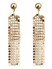 Silver Wedding Earrings Women Alloy Bridal Party Statement Earrings Evening Jewelry