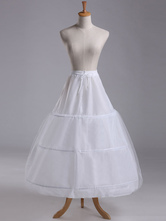 Petticoat Wedding White Skirt Slip 3 Hoop Bridal Crinoline