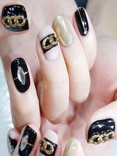 Adesivi unghie Dito del Piede monocolore donna in lega d'acciaio fuori