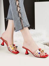 Sandalias blancas sandalias sin talón con cuentas abiertas del talón del dedo del pie para las mujeres Compre una venta caliente barata 100% original barato en línea Estilo de moda para la venta Descuentos de venta r6fHJnY46